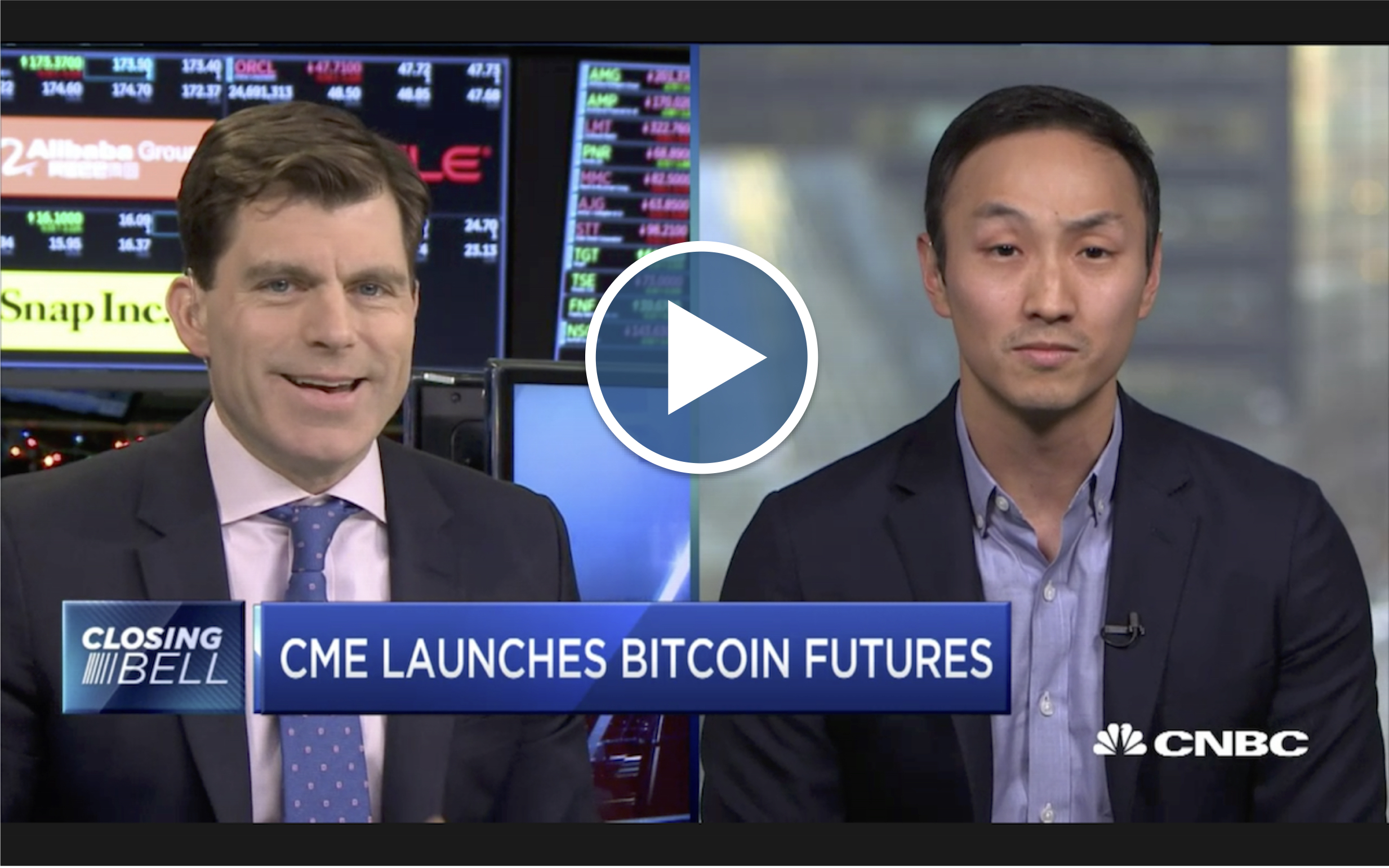 screen shot during CNBC interview of bobby cho
