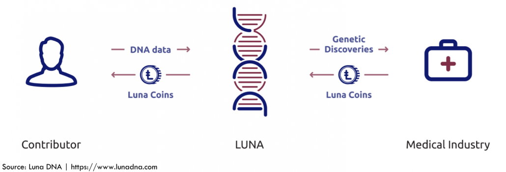 image depicting routing of information and Luna Coins