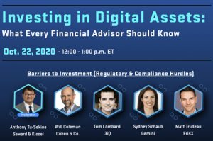 October 7 – October 13, 2020   Public Companies Holding BTC, Digital Chamber of Commerce Webinar, and More